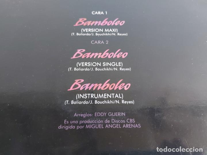 Discos de vinilo: TIJERITAS / BAMBOLEO / MAXI SG - EPIC-1988 / MBC. ***/*** - Foto 3 - 268425139