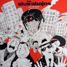 """Discos de vinilo: LOS SKARABAJOS:""""YA ERA HORA"""". LP VINILO. SOCK-IT RECORDS 1992. LATIN SKA. Lote 268432314"""