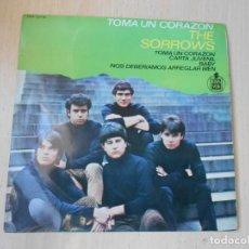 Dischi in vinile: SORROWS, THE, EP, TOMA UN CORAZÓN + 3, AÑO 1965. Lote 268448244