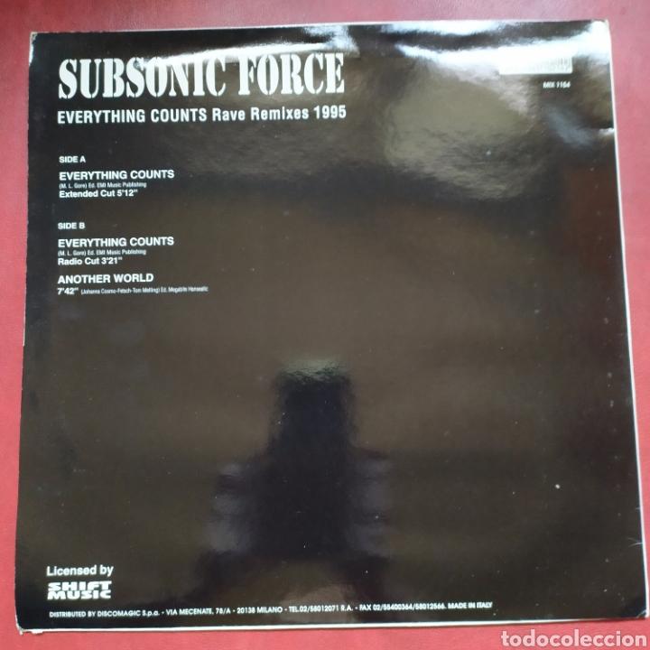 Discos de vinilo: Maxi lp subsonic force everything counts rave remixes 1995 (new order) - Foto 2 - 268450029