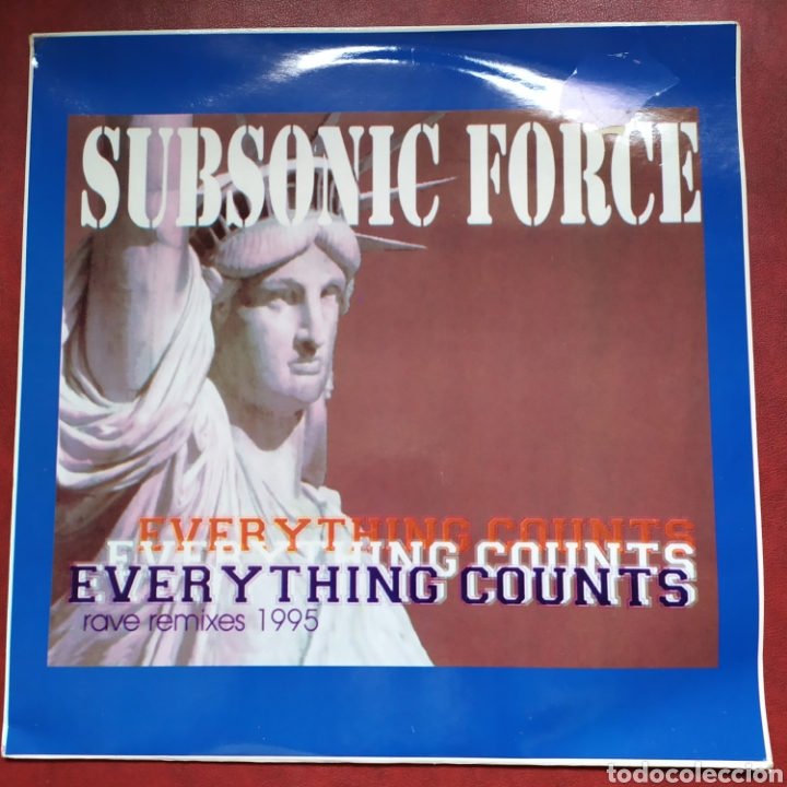 MAXI LP SUBSONIC FORCE EVERYTHING COUNTS RAVE REMIXES 1995 (NEW ORDER) (Música - Discos de Vinilo - EPs - Techno, Trance y House)