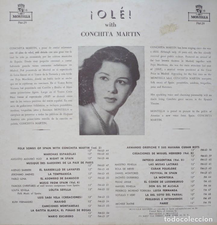 Discos de vinilo: Conchita Martín Lp sello Montilla editado en USA... - Foto 2 - 268459649