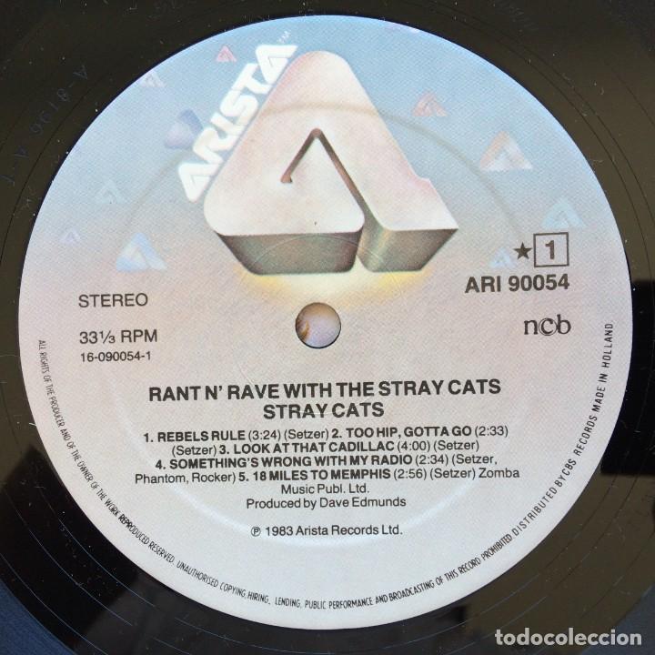 Discos de vinilo: Stray Cats – Rant N Rave Scandinavia,1983 Arista - Foto 5 - 268459714
