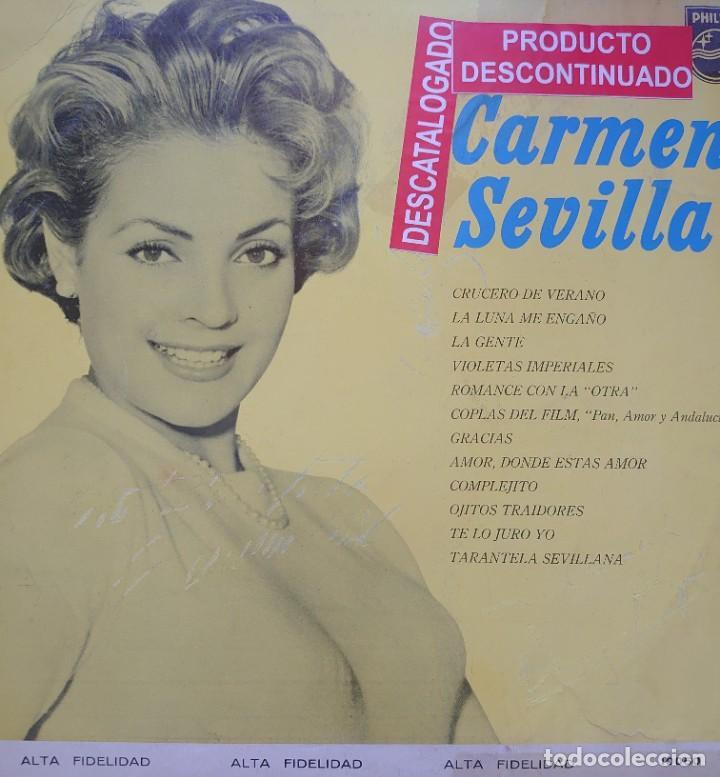 CARMEN SEVILLA LP SELLO PHILIPS EDITADO EN MÉXICO AÑO 1964... (Música - Discos - LP Vinilo - Flamenco, Canción española y Cuplé)