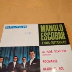 Disques de vinyle: BAL-5 DISCO VINILO 7 PULGADAS MANOLO ESCOBAR LA FLOR SILVESTRE. Lote 268464859