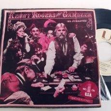 Discos de vinilo: KENNY ROGERS-SINGLE THE GAMBLER. Lote 268472984