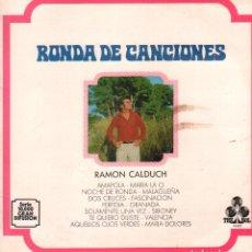 Discos de vinilo: RAMON CALDUCH - RONDA DE CANCIONES / LP TREBOL DE 1967 / BUEN ESTADO RF-9698. Lote 268480959