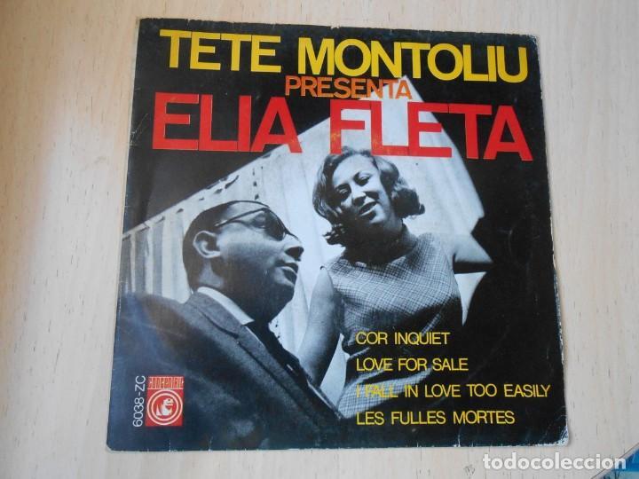 TETE MONTOLIU PRESENTA ELIA FLETA, EP, LOVE FOR SALE + 3, AÑO 1966 (Música - Discos de Vinilo - EPs - Jazz, Jazz-Rock, Blues y R&B)