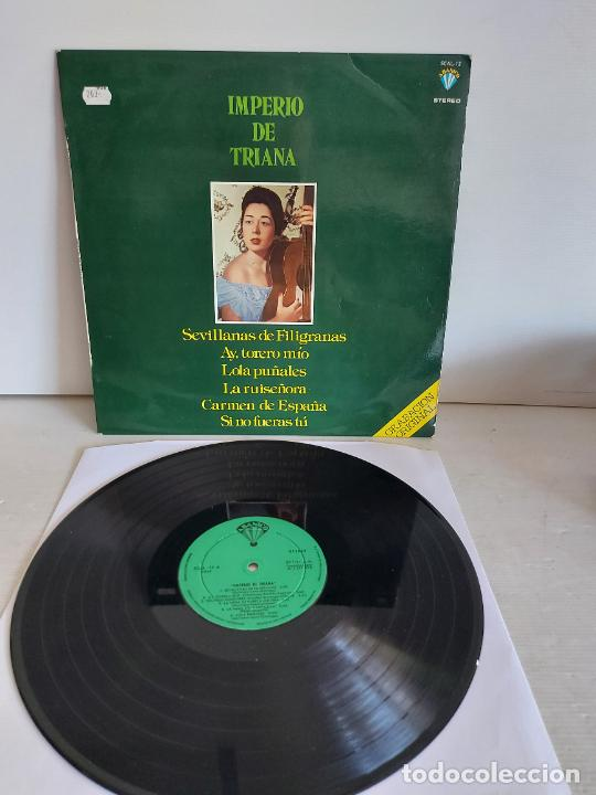 IMPERIO DE TRIANA / SEVILLANAS DE FILIGRANAS / LP - ABANICO-1978 / MBC. ***/*** (Música - Discos - LP Vinilo - Flamenco, Canción española y Cuplé)