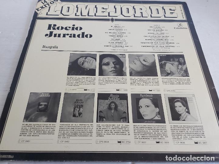 Discos de vinilo: LO MEJOR DE ROCÍO JURADO / LP-COLUMBIA ETIQUETA NEGRA-1983 / MBC. ***/*** - Foto 2 - 268609359