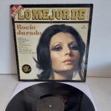 Discos de vinilo: LO MEJOR DE ROCÍO JURADO / LP-COLUMBIA ETIQUETA NEGRA-1983 / MBC. ***/***. Lote 268609359