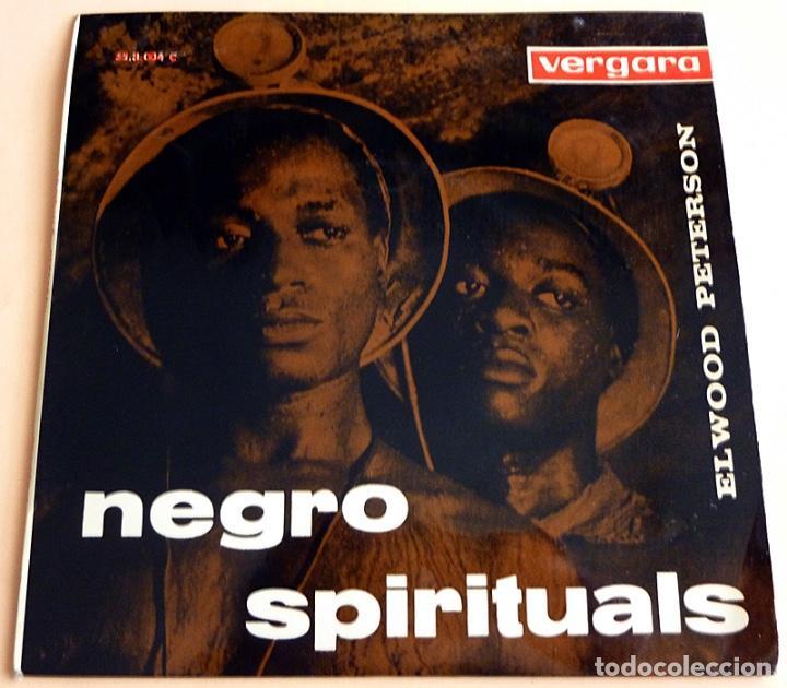 ELWOOD PETERSON: NEGRO SPIRITUALS - EP -1963 - VERGARA - MUY BUENO (VG+/VG+) (Música - Discos de Vinilo - EPs - Funk, Soul y Black Music)