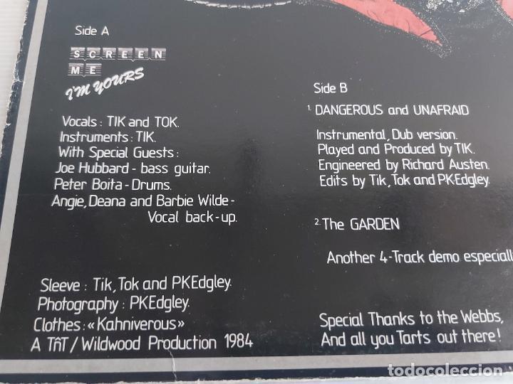 Discos de vinilo: TIK AND TOK / SCREEN ME IM YOURS / MAXI SG-SURVIVAL RECORDS-1984 / MBC. ***/*** - Foto 3 - 268615699