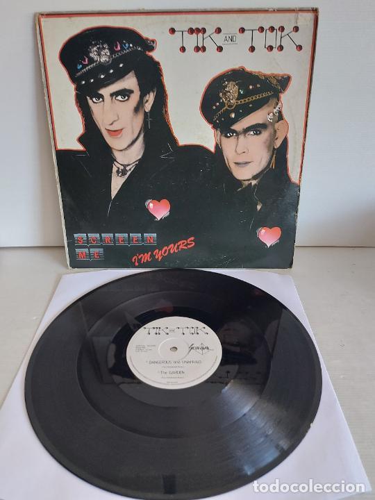 TIK AND TOK / SCREEN ME I'M YOURS / MAXI SG-SURVIVAL RECORDS-1984 / MBC. ***/*** (Música - Discos de Vinilo - Maxi Singles - Pop - Rock - New Wave Internacional de los 80)
