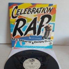 Discos de vinilo: M.C.MIKER-G- & DEEJAY SVEN / CELEBRATION RAP / MAXI SG-BLANCO Y NEGRO-1986 / MBC. ***/***. Lote 268616049
