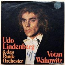Discos de vinilo: UDO LINDENBERG: VOTAN WAHNWITZ + 3 - EP - 1975 - TELEFUNKEN (ALEMANIA) - (VG+ / VG). Lote 268616594
