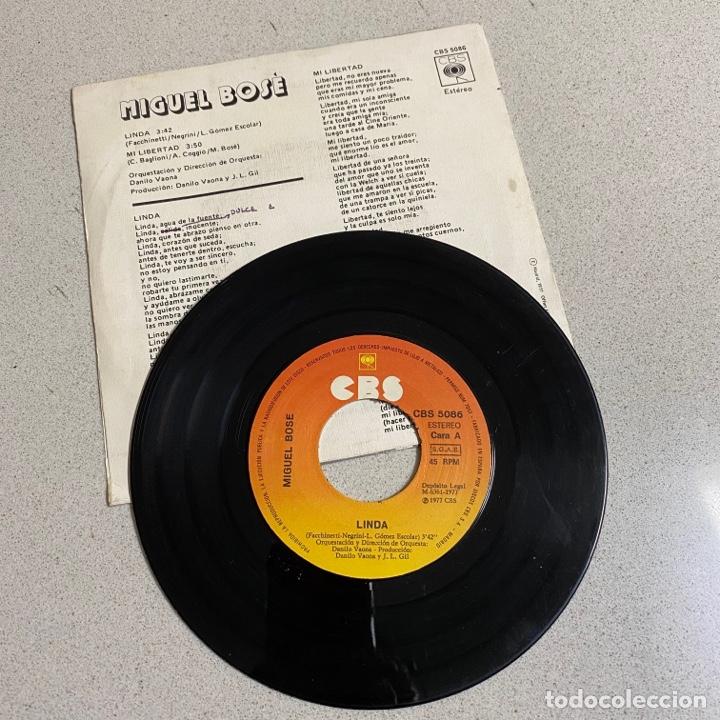 Discos de vinilo: Disco Vinilo Maxi a 45 r.p.m 'MIGUEL BOSE' Linda CBS - Foto 2 - 268717819