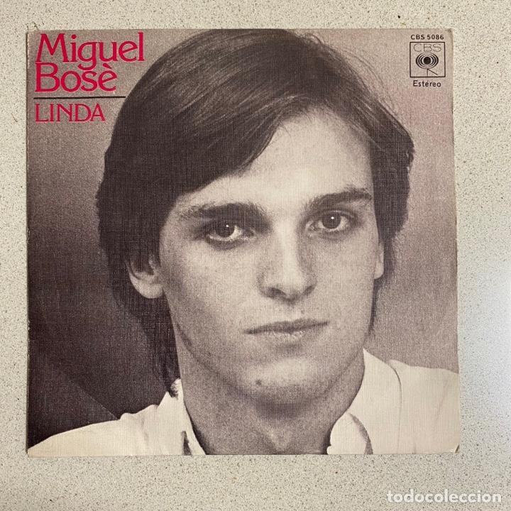 DISCO VINILO MAXI A 45 R.P.M 'MIGUEL BOSE' LINDA CBS (Música - Discos - Singles Vinilo - Solistas Españoles de los 70 a la actualidad)