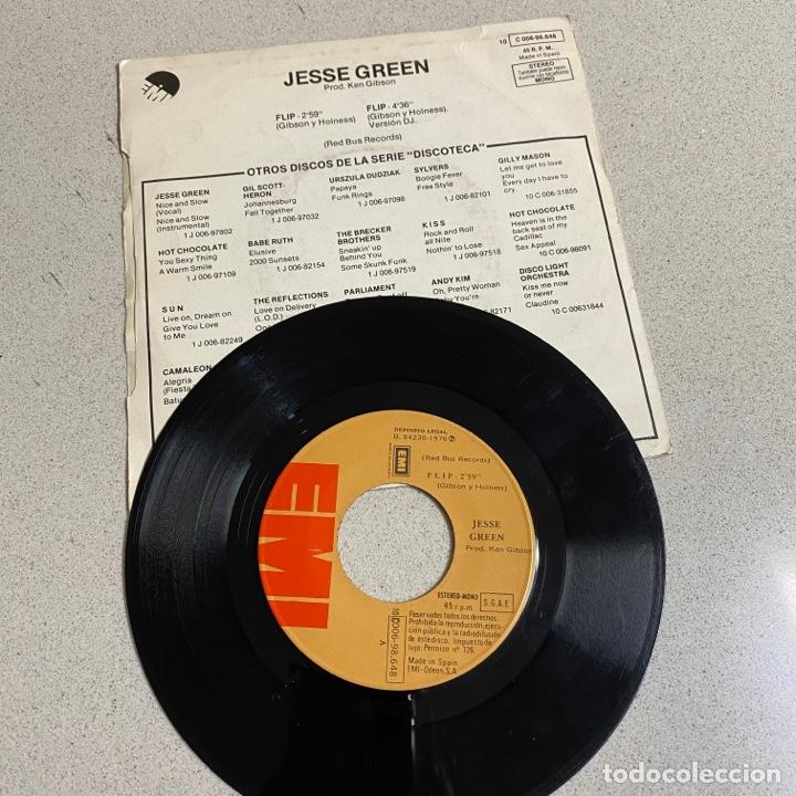 Discos de vinilo: Disco Vinilo Maxi 45 r.p.m 'JESSE GREEN' FLIP Discoteca - Foto 2 - 268717979