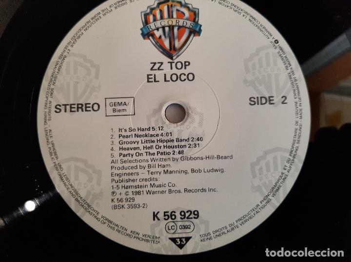 Discos de vinilo: ZZ TOP -EL LOCO- DISCO VINILO LP - Foto 3 - 268718019