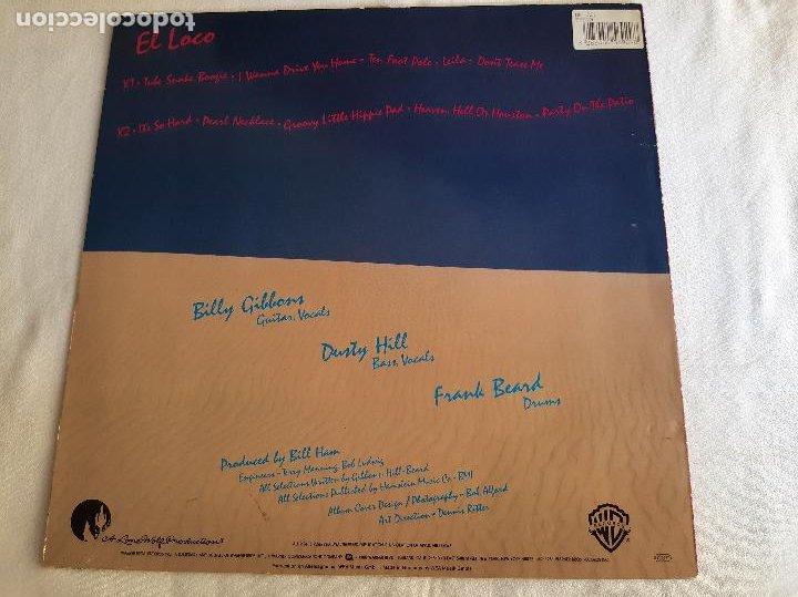Discos de vinilo: ZZ TOP -EL LOCO- DISCO VINILO LP - Foto 8 - 268718019