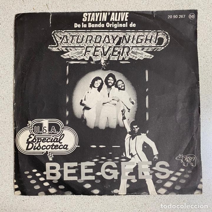 DISCO VINILO 45 R.P.M 'BEEGEES' SATURDAY NIGHT FEVER (Música - Discos - Singles Vinilo - Disco y Dance)