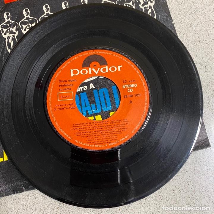 Discos de vinilo: Disco Vinilo Maxi 45 r.p.m '6 TEMAS DE CINE' cantando bajo la lluvia, 2001 odisea espacio… - Foto 2 - 268718359