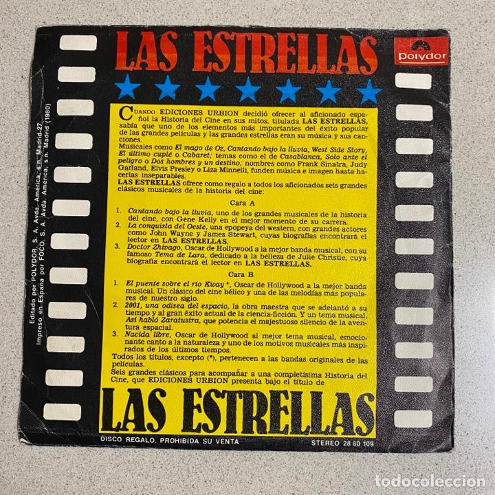 Discos de vinilo: Disco Vinilo Maxi 45 r.p.m '6 TEMAS DE CINE' cantando bajo la lluvia, 2001 odisea espacio… - Foto 3 - 268718359