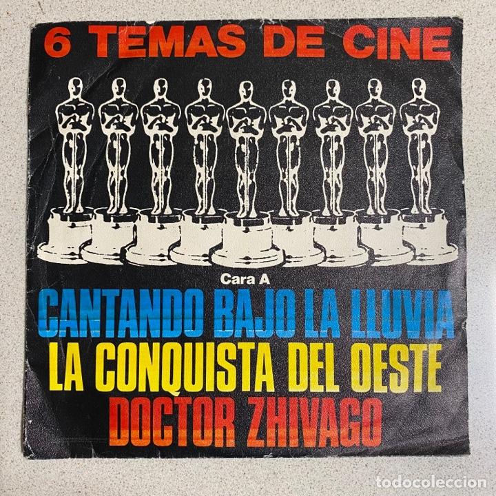 DISCO VINILO MAXI 45 R.P.M '6 TEMAS DE CINE' CANTANDO BAJO LA LLUVIA, 2001 ODISEA ESPACIO… (Música - Discos - Singles Vinilo - Bandas Sonoras y Actores)