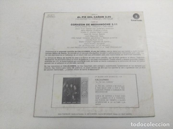 Discos de vinilo: SINGLE/CALLEJONES/AL PIE DEL CAÑON. - Foto 3 - 268718384