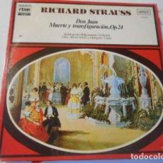 Discos de vinilo: LP-RICHARD STRAUSS--DON JUAN -MUERTE Y TRANSFIGURACION-OP. 24--NUEVO PRECINTADO. Lote 268724014