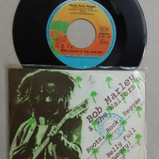 """Discos de vinilo: 7"""" BOB MARLEY & THE WAILERS, ROOTS, ROCK, REGGAE + THEM BELLY FULL.... Lote 268730289"""