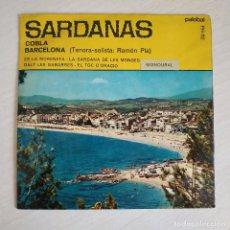 Discos de vinilo: COBLA BARCELONA - ES LA MORENETA + 3 SARDANAS - MUY DIFICIL EP PALOBAL 1967 EXCELENTE ESTADO. Lote 268737494