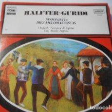 Discos de vinilo: LP-HALTER-GURIDI-SINFONIETTA-DIEZ MELODIAS VASCAS---NUEVO PRECINTADO. Lote 268745534