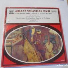 Discos de vinilo: LP---JOHANN SEBASTIAN BACH-CONCIERTO PARA DOS VIOLINES.......----NUEVO PRECINTADO. Lote 268752924
