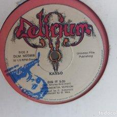 Discos de vinilo: KASSO / DIG IT / LP - DELIRIUM-1982 / MBC. ***/***DIFÍCIL.. Lote 268761979