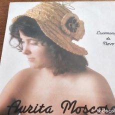 Discos de vinilo: AURITA MOSCOSO - ESCOMENZO DE NOVO. COMO NUEVO. MINT / VG+++. Lote 268772559