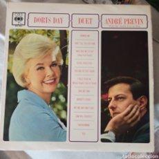 Discos de vinilo: DORIS DAY AND ANDRE PREVIN WITH THE ANDRE PREVIN TRIO - DUET (CBS, UK). Lote 268795729