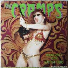 Discos de vinilo: THE CRAMPS.BIKINI GIRLS WITH MACHINE GUNS + 2...RARISIMO MAXI...LEER FICHA. Lote 268801494