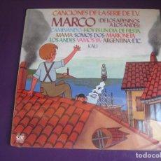 Discos de vinilo: CANCIONES SERIE TVE MARCO DE LOS APENINOS A LOS ANDES - LP GRAMUSIC 1977 - VERSIONES - PRECINTADO. Lote 268802494