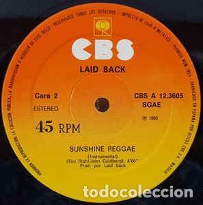 LAID BACK – SUNSHINE REGGAE - MAXI-SINGLE SPAIN 1983 (Música - Discos de Vinilo - Maxi Singles - Reggae - Ska)