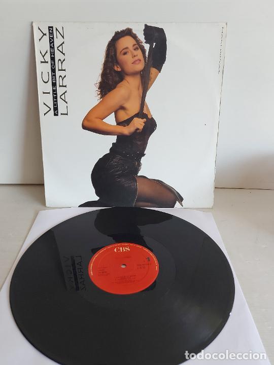 VICKY LARRAZ / A LITTLE BIT OF HEAVEN / MAXI SG - CBS-1987 / MBC. ***/*** RAREZA (Música - Discos de Vinilo - Maxi Singles - Solistas Españoles de los 70 a la actualidad)