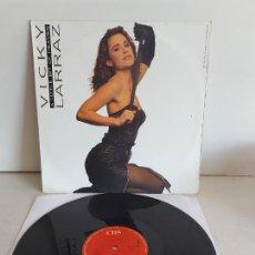Discos de vinilo: VICKY LARRAZ / A LITTLE BIT OF HEAVEN / MAXI SG - CBS-1987 / MBC. ***/*** RAREZA. Lote 268816869