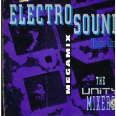 Discos de vinilo: THE UNITY MIXERS - ELECTRO SOUND MEGAMIX - MAXI SINGLE 1991 - ED. BELGICA. Lote 268819534