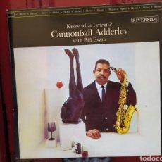 Discos de vinilo: CANNONBALL ADDERLEYWITHBILL EVANS–KNOW WHAT I MEAN? EDICIÓN 1989 SPAIN. NUEVOS MEDIOS. Lote 268820164