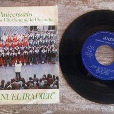 """Discos de vinilo: SINGLE DE CORAL """"MANUEL IRADIER """" PARA COLECCIONISTA EDICIÓN LIMITADA. Lote 268821249"""