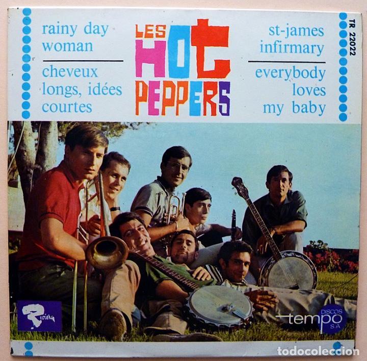 LES HOT PEPPERS: RAINY DAY WOMAN + 3 - EP - 1966 - DISCOS TEMPO - EXCELENTE (EX / VG+) (Música - Discos de Vinilo - EPs - Jazz, Jazz-Rock, Blues y R&B)