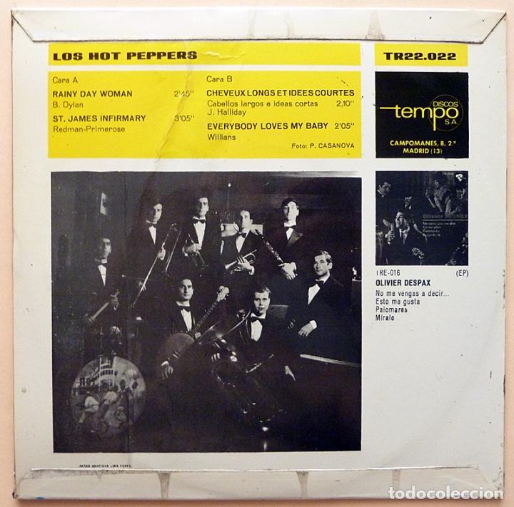 Discos de vinilo: LES HOT PEPPERS: RAINY DAY WOMAN + 3 - EP - 1966 - DISCOS TEMPO - EXCELENTE (EX / VG+) - Foto 2 - 268821689