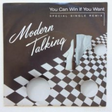 Discos de vinilo: MODERN TALKING – YOU CAN WIN IF YOU WANT (SPECIAL SINGLE REMIX) / ONE IN A MILLIO SCANDINAVIA,1985. Lote 268831384