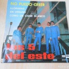 Dischi in vinile: 5 DEL ESTE, LOS, EP, NO PUEDO CREER + 3, AÑO 1967. Lote 268834919
